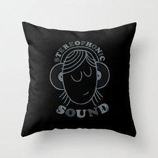 Stereophonic Sound Throw Pillow