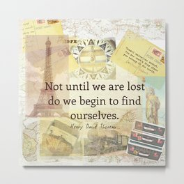 Inspirational Travel Quote Metal Print