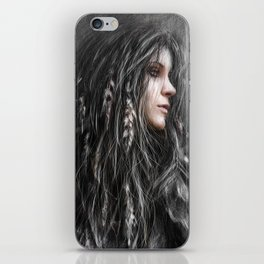 Feathers in Her Hair iPhone Skin