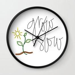 Grow Slow Wall Clock