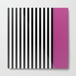 Liquorice allsorts, dark pink Metal Print