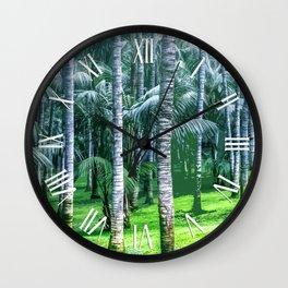Coconut Trees Artwork Wall Clock