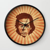 nick cave Wall Clocks featuring Cave by Durro