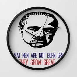 Don Corleone Poster Art Wall Clock