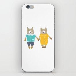 Cute pair of bears iPhone Skin