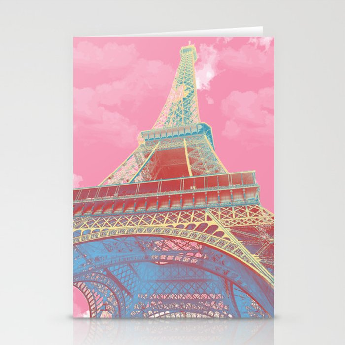 Eiffel Tower Pastel Stationery Cards