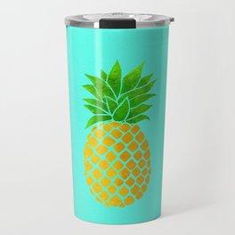 Pineapple on Teal Travel Mug