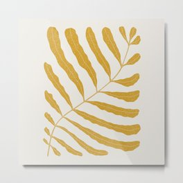 Yellow Plant Metal Print