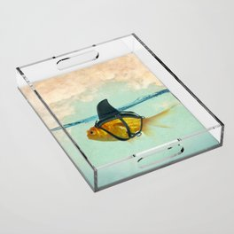 Brilliant DISGUISE - Goldfish with a Shark Fin Acrylic Tray