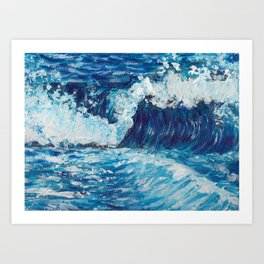Crest of a Wave Art Print