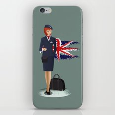 Come fly with me, let's fly, let's fly away - England iPhone & iPod Skin