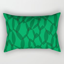 Overlapping Leaves - Dark Green Rectangular Pillow