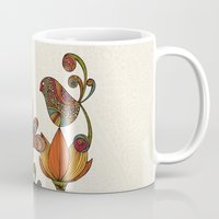 valentina Mugs featuring In the garden by Valentina Harper