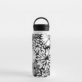 Black & White Zinnias Water Bottle