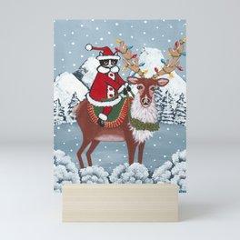 Santa Claws and Reindeer Mini Art Print