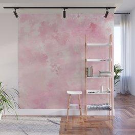 Pink rose fuscia batic look Wall Mural