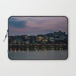 Purple Skies Over Seoul Laptop Sleeve