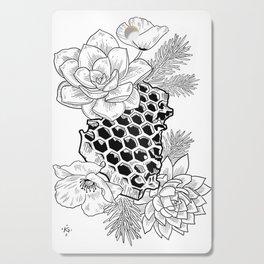 Succulents & Honeycomb Cutting Board