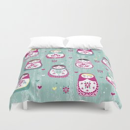 Matryoshka Dolls Duvet Cover