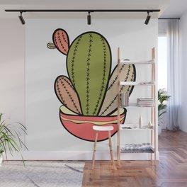 Cactus vector illustration. Hand drawn. Cactus plants nature element Wall Mural