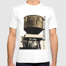 WATER TANK Mens Fitted Tee MEDIUM White