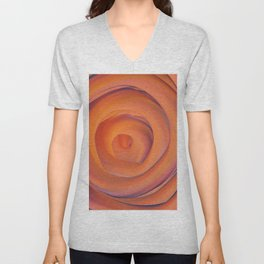 orange and violate gate colorful abstract Unisex V-Neck