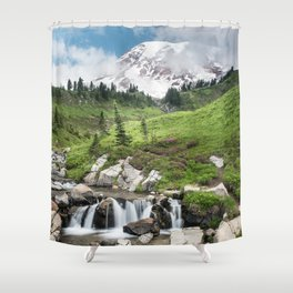 Mt. Rainier, Edith Creek Shower Curtain