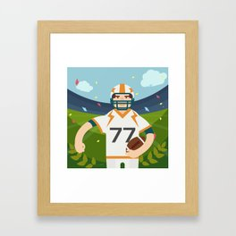 Rugby player Framed Art Print