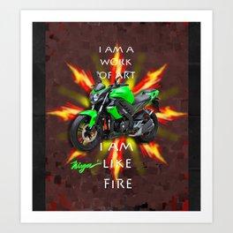 Power Motorcycle Art Print