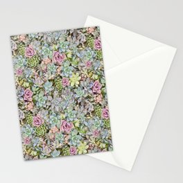 Succulent Pastel Stationery Cards