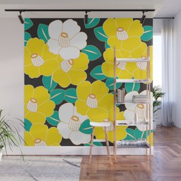 Shades of Tsubaki - Yellow & Black Wall Mural