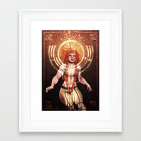fifth element Framed Art Prints featuring The Fifth Element: Leeloo by Gunkiss