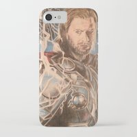 thor iPhone & iPod Cases featuring Thor by Shawwayne