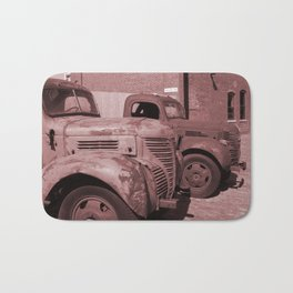 Vintage Cars Bath Mat