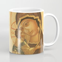 Orthodox Icon of Virgin Mary and Baby Jesus Coffee Mug