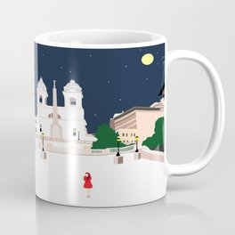 Spanish Steps in Snowy Rome Coffee Mug