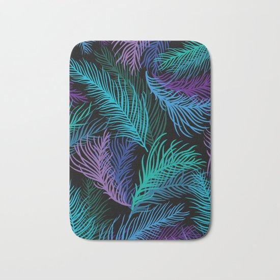 Multicolored palm leaves Bath Mat