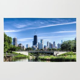 The Chicago Skyline - Lincoln Park 2 Rug