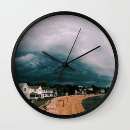 Beach Storm Panorama Wall Clock