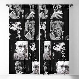 BUKOWSKI - 4 faces Blackout Curtain