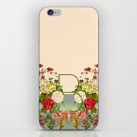 botanical iPhone & iPod Skins featuring Botanical by Blue Jean Genie