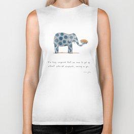 polka dot elephants serving us pie Biker Tank