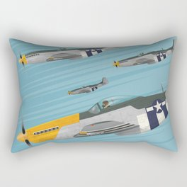 P51 Mustang Flying in Formation Rectangular Pillow