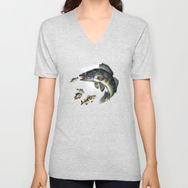Walleye Unisex V-Neck