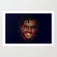 elvis Art Prints featuring Elvis  by Msimioni