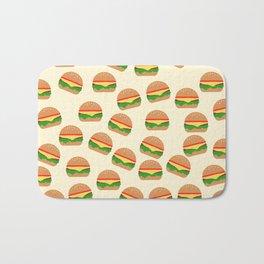 Cute Burgers Bath Mat
