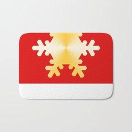 Gold Snowflake Bath Mat