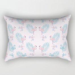 Pretty Pastel Flamingo Chevron Pattern #decor Rectangular Pillow