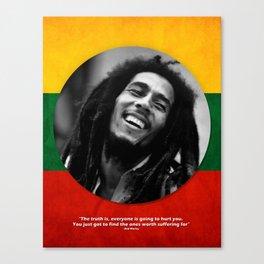 PEACE - LIFE - REGGAE Canvas Print