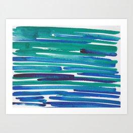 42  |  190408 Blue Abstract Watercolour Art Print